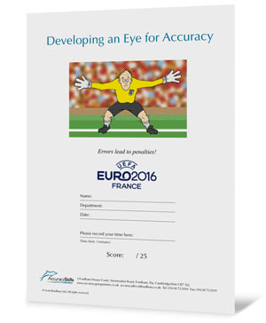 Football themed accuracy test